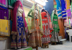 Mannequins dressed in latest Indian fashion dress for women Stock Photos