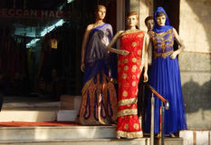 Mannequins dressed in latest Indian fashion dress for women Royalty Free Stock Images