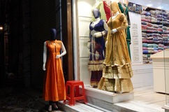 Mannequins dressed in latest Indian fashion dress for women Royalty Free Stock Photo
