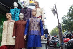 Mannequins dressed in latest Indian fashion dress for women Royalty Free Stock Photos