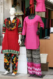Mannequins dressed in latest Indian fashion Royalty Free Stock Images