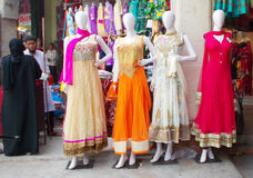 Mannequins dressed in latest Indian fashion Stock Photography