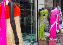 Mannequins dressed in latest Indian fashion Royalty Free Stock Photo