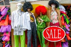 Mannequins dressed in a quirky fashion on display at Camden Market Stock Image
