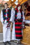 Mannequins dressed with Romanian traditional clothes Royalty Free Stock Images