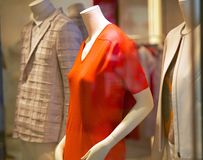 Mannequins and fashionable clothes Stock Photo