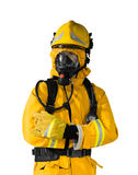 Mannequins of Firefighter. Isolated on white background Stock Photo