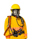 Mannequins of Firefighter. Isolated on white background Stock Photography