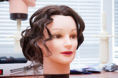 Mannequins head with hairstyle Stock Image