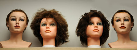 Mannequins heads Royalty Free Stock Photography