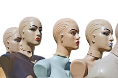 Mannequins isolated over white Stock Photos
