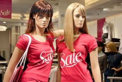 Mannequins in the mall Royalty Free Stock Photo
