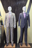 Mannequins in a men fashion store royalty free stock photo