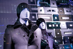 Mannequins model fashion store window sale Royalty Free Stock Image