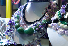 Mannequins necklace colorful stones Stock Photography
