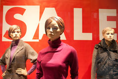 Mannequins nel viale Fotografia Stock