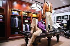 Mannequins On Table In Shop Stock Images