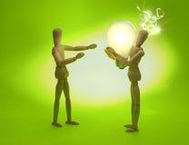 Mannequins partageant une idée illustration stock