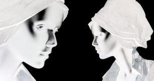 Mannequins, plastic dolls royalty free illustration