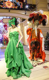 Mannequins with samples of evening dresses. RUSSIA, MOSCOW, DECEMBER, 30, 2014 - Mannequins with samples of evening dresses in Modern shopping center GUM, Moscow Stock Photos