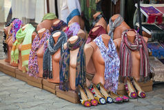 Mannequins with scarves Royalty Free Stock Photos