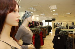 Mannequins in Shop Interior Stock Images