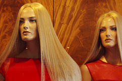 Mannequins in a shop Stock Image