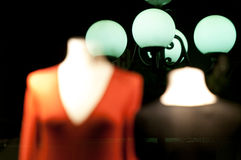 Mannequins in shop window. Royalty Free Stock Photography
