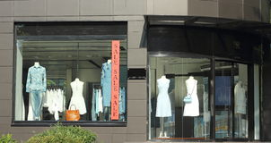 Mannequins for shop window Royalty Free Stock Photos