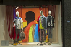 Mannequins in the showcase of a department store in Paris Royalty Free Stock Photos