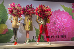 Mannequins in the showcase of a department store in Paris Stock Images