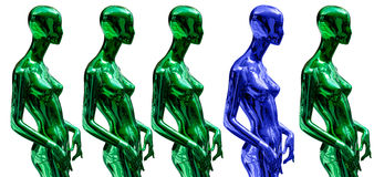 Mannequins standing Stock Image