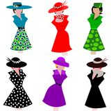 Mannequins in stylish dresses Royalty Free Stock Photos