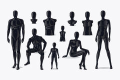 Mannequins vector set Royalty Free Stock Images