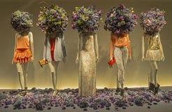 Mannequins w gablocie wystawowej. Zdjęcie Royalty Free