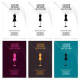 Mannequins w kobiety mody ilustracyjnej broszurce projektują set Obrazy Royalty Free