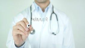 Manner Gesundheit, Men's Health in German Writing on Glass. Man writing stock video