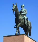 Mannerheim雕象在赫尔辛基 库存图片