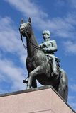 Mannerheim雕象在赫尔辛基 免版税库存图片
