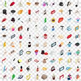 100 manners icons set, isometric 3d style. 100 manners icons set in isometric 3d style for any design vector illustration Royalty Free Stock Image