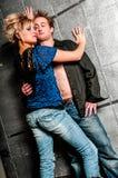 Mannes-/Mann-und Frau-/Frauen-Mode-Modell-Paare Stockfotografie