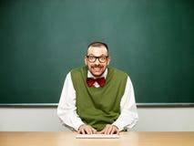 Mannetje die nerd typen Royalty-vrije Stock Foto