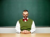 Mannetje nerd op kalmtewijze Stock Foto's