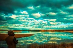 Mannfliegenbrummen Lizenzfreies Stockfoto