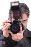 Mannfotografieren Lizenzfreie Stockbilder