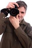 Mannfotografieren Stockfoto