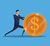 Manngeschäfts-Geld-Finanzwirtschaft Stockbild