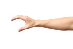 Mannhand getrennt Halten Sie, ergreifen Sie oder fangen Sie Lizenzfreies Stockfoto