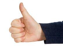 Mannhandgeste O.K. Lizenzfreie Stockfotos