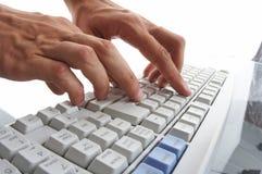 Mannhandschreiben Lizenzfreies Stockbild
